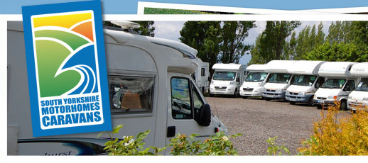 south yorkshire motorhomes stock photo